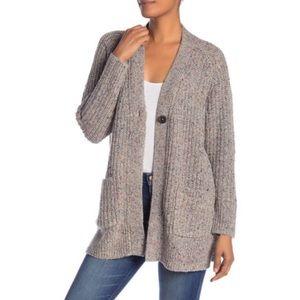 Madewell Multifleck Wool/Silk Oversized Cardigan